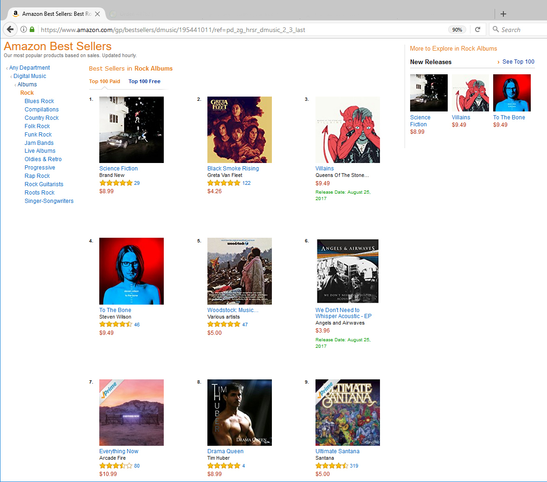 News – Drama Queen Album Amazon 20170823 – Tim Huber Music
